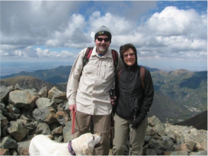 Mark and Betsy Montgomery with Austin on top of NM - Oct 2014