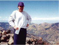 Mark on Wheeler summit - Oct 1993